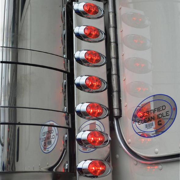 Peterbilt 379 388 389 Smoke Rear Air Cleaner LED Light Bar With P3 LEDs