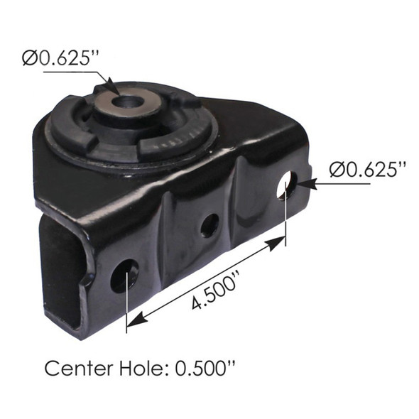 Freightliner Cab Mount 18-59922-000 Dimensions