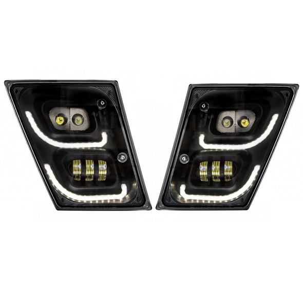 Volvo VN VNL High Power Full LED Blackout Fog Light With Daytime And Position Light Both On