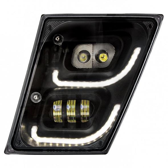 Volvo VN VNL High Power Full LED Blackout Fog Light With Daytime And Position Light Driver On