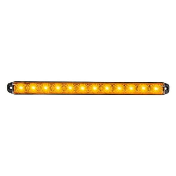 "15 3/4"" Sequential LED Smart Dynamic Light Amber LEDs On"