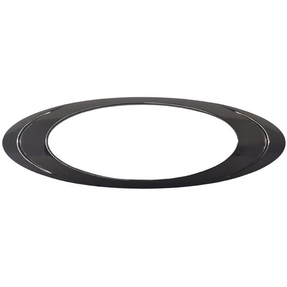 Oval P1 LED Clearance Marker Light Black Chrome Bezel Individual
