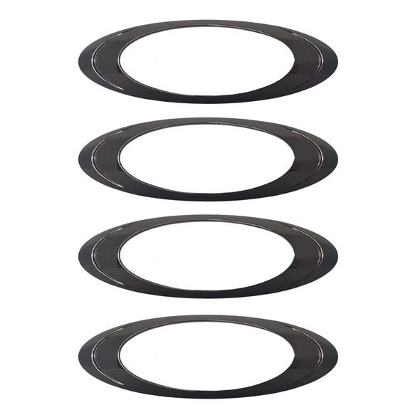 Oval P1 LED Clearance Marker Light Black Chrome Bezel Pack Of 4