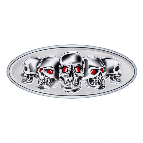 Peterbilt Chrome Skull Emblem - Chrome