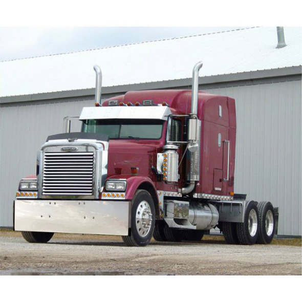 Freightliner Classic 2007 & Older Stainless Steel Bumper By Roadworks Boxed End