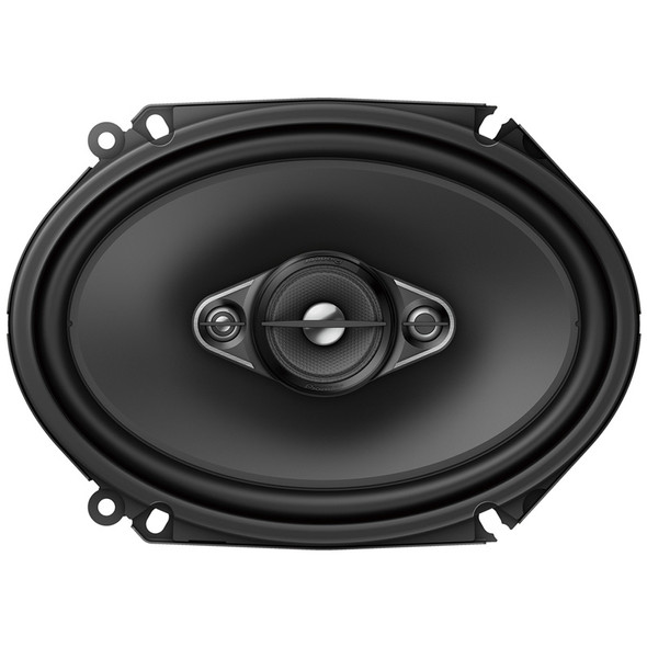 """6"""" x 8"""" 4 Way Coaxial 350W Speaker Front View"""