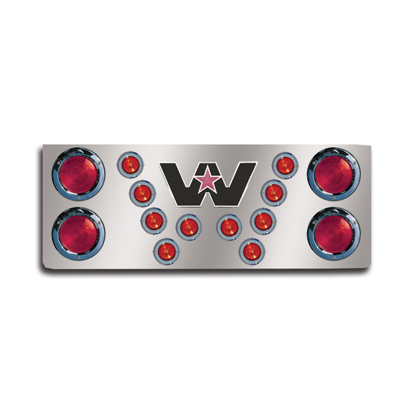 """14"""" Rear Center Panel With Round Lights And Western Star Logo"""