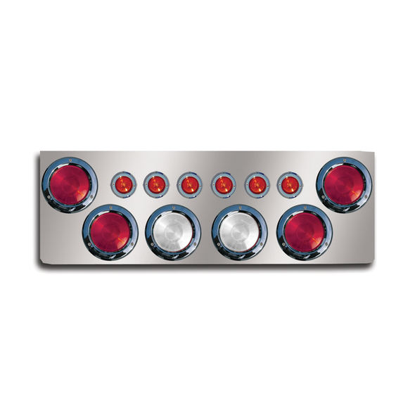 """12"""" Rear Center Panel With Round Lights And Backup Lights"""