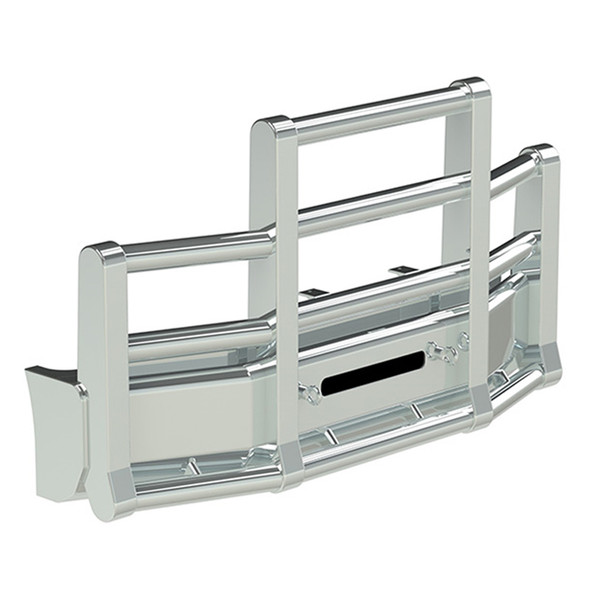 Kenworth T600 Set Back Axle Herd Super Road Train Bumper Grill Guard - Horizontal Tubes With Eyebolts