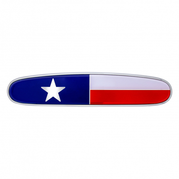 Freightliner Chrome Die Cast Flag Emblem Texas