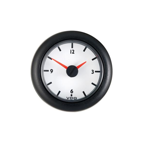 Semi Truck 12V Analog Clock Gauge Viewline Ivory
