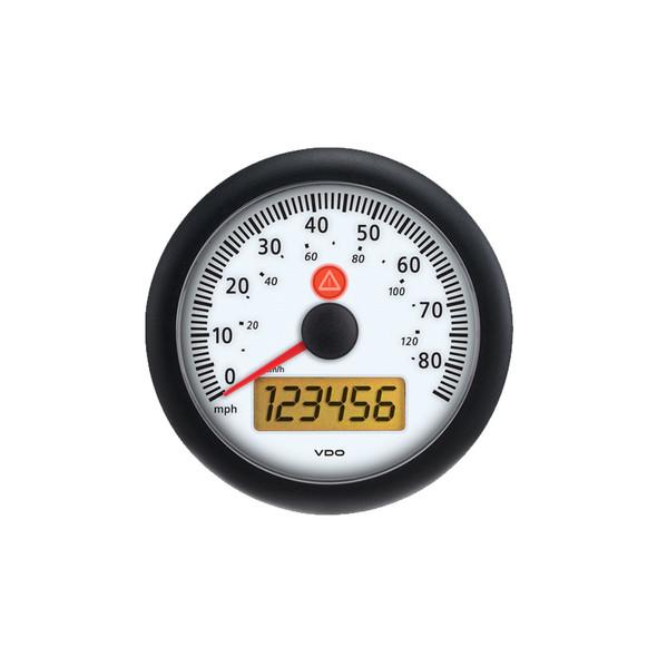 Semi Truck Electronic Analog Speedometer Gauge Viewline Ivory - 85mph