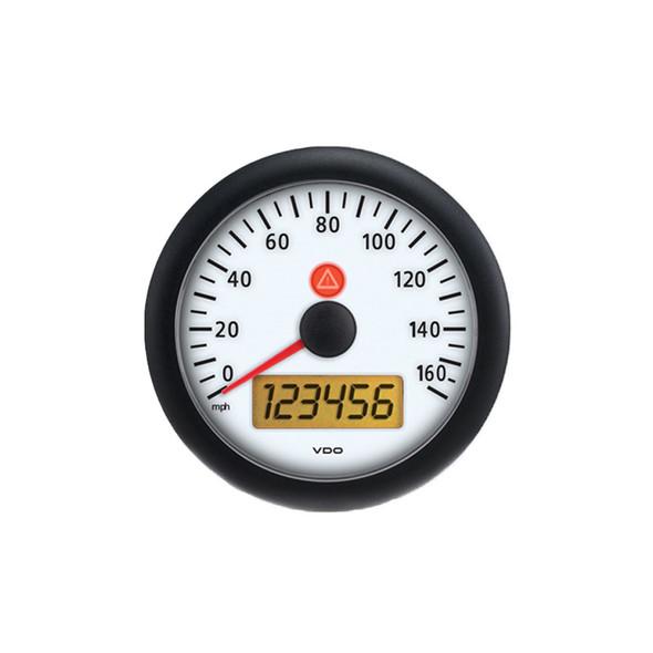 Semi Truck Electronic Analog Speedometer Gauge Viewline Ivory - 120mph