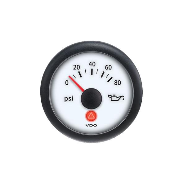 Semi Truck Analog Oil Pressure Gauge Viewline Ivory
