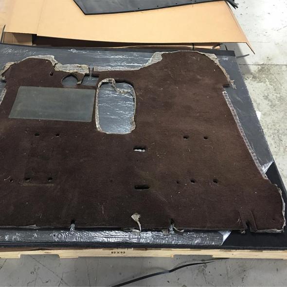 "Peterbilt Kenworth Western Star 60"" x 72"" Black Carpet Floor Mat Over Stock Mats"
