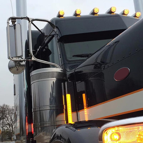 Peterbilt Donaldson Front Glo-Beam Air Cleaner Bars Front Angled