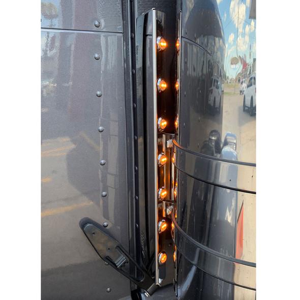 Peterbilt Donaldson Front Penny Light Air Cleaner Bars On Truck