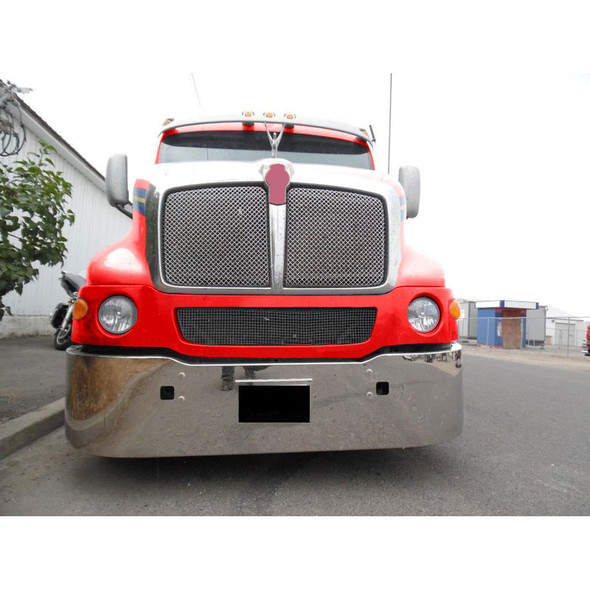 """Kenworth T2000 18"""" Stainless Steel Bumper With Tow Pin Holes"""