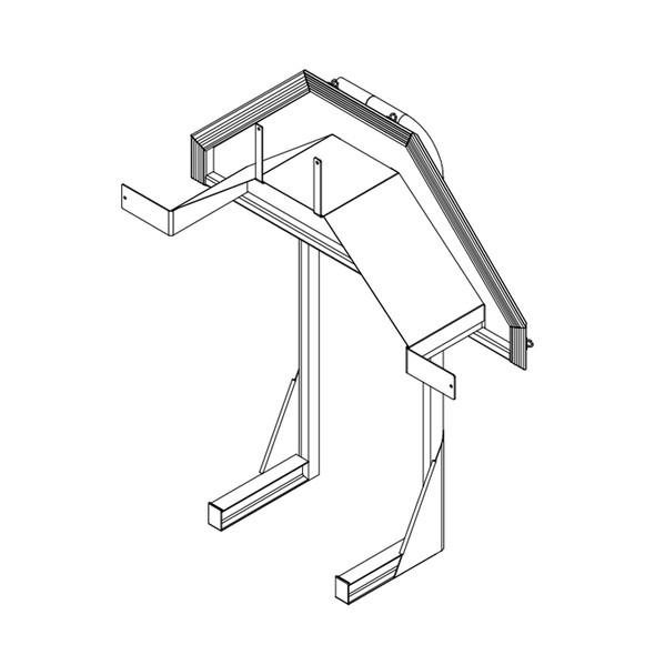 Aluminum Heavy Duty Hose Rack Drawing