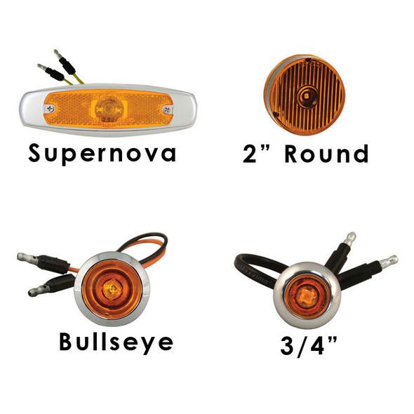 4-Piece Rear Vertical Extension Kit Lights