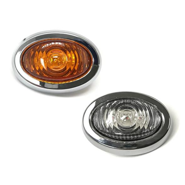"1"" Mini LED Clearance Marker With Chrome Bezel"