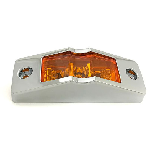 LED Clearance Marker Light With Chrome Bezel Another Angle
