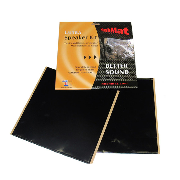 "Hushmat Ultra Stealth Black Self Adhesive 10"" x 10"" Speaker Kit"