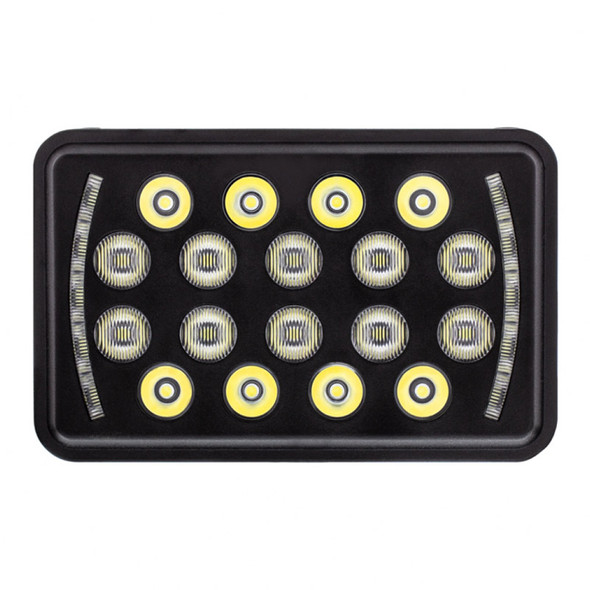 "18 High Power LED 4"" X 6"" Rectangular Off-Road Position Light Off"