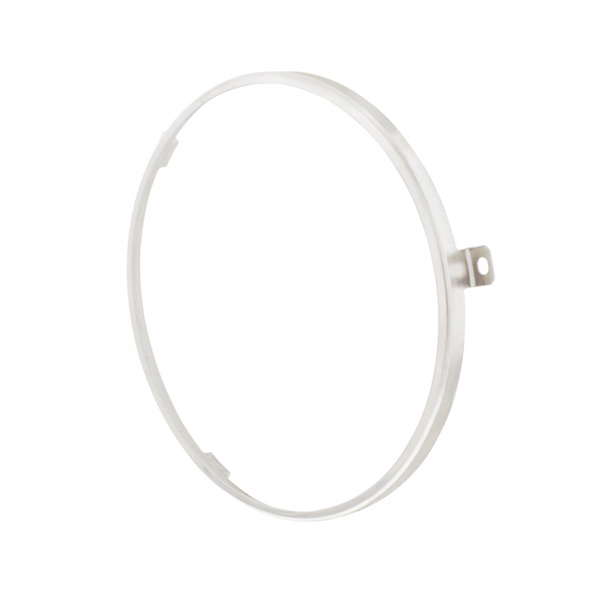 "7"" Stainless Steel Headlight Retaining Ring Angle"