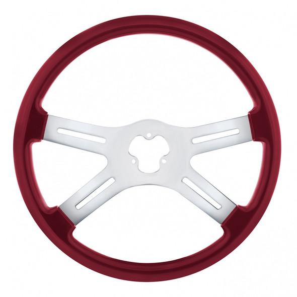 "18"" Vibrant Candy Red 4 Spoke Steering Wheel"
