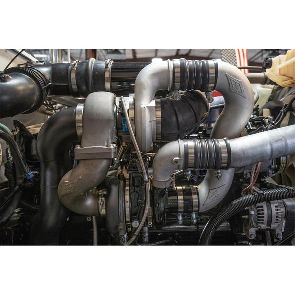 Big Boss Cummins ISX15 X15 Compound Turbo Kit Non-Coated On Truck