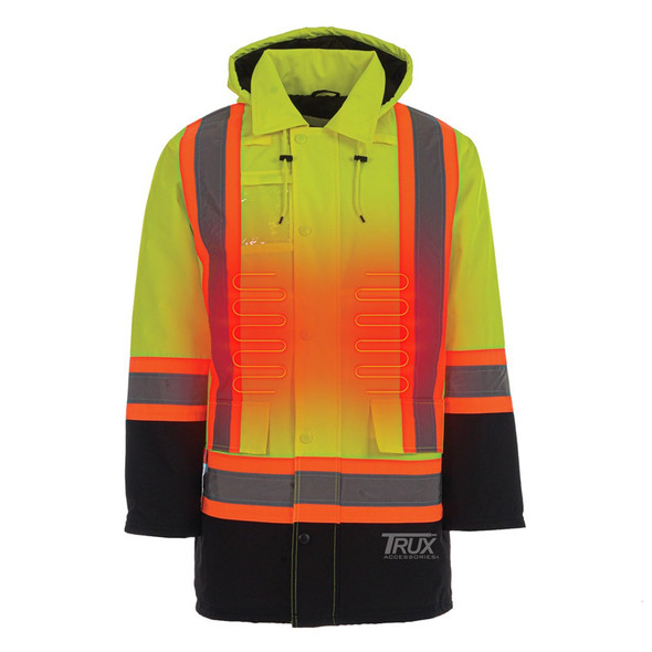 Trux USB Heated Water Resistant Windproof Safety Parka Front