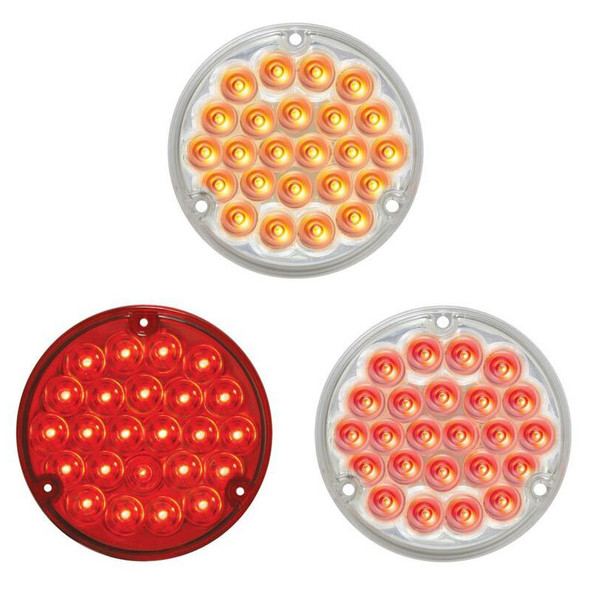"""4"""" Pearl Round LED Load Light With 1156 Plug By Grand General - Default"""