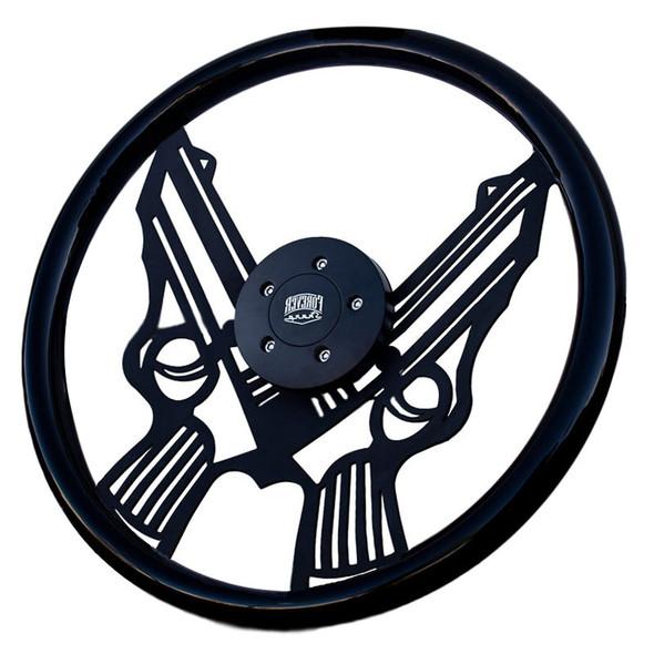 "18"" Black Pistol Steering Wheel"