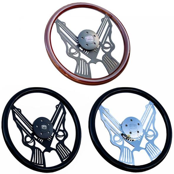 """18"""" Pistol Steering Wheel By Forever Sharp"""