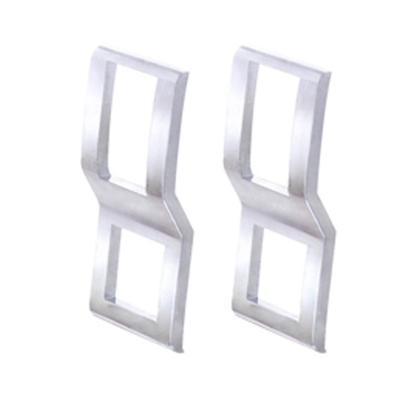 Freightliner Cascadia Chrome Switch Cover Pair - Side View