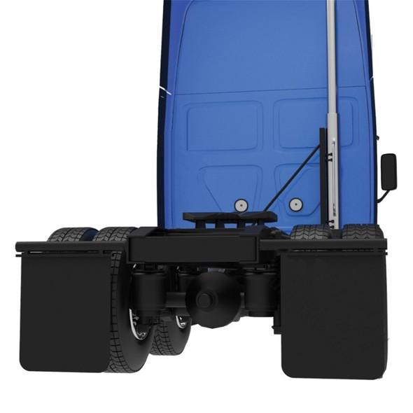 "24"" x 30"" Anti-Spray Heavy Duty Mud Flap Pair - On Truck"