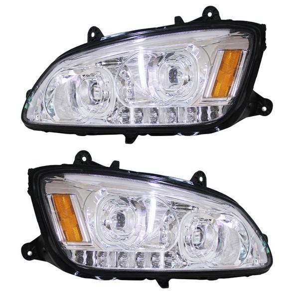 Kenworth T660 Chrome Full LED Headlights - Off