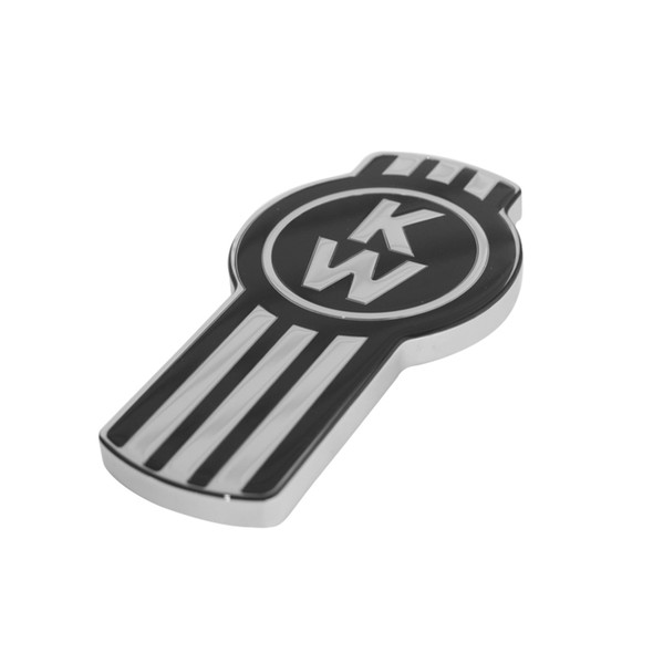 Black Original Kenworth Logo Tractor Trailer Air Brake Knob - Side View