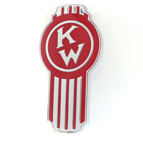Kenworth Old Timer Style Hood Emblem (Red)