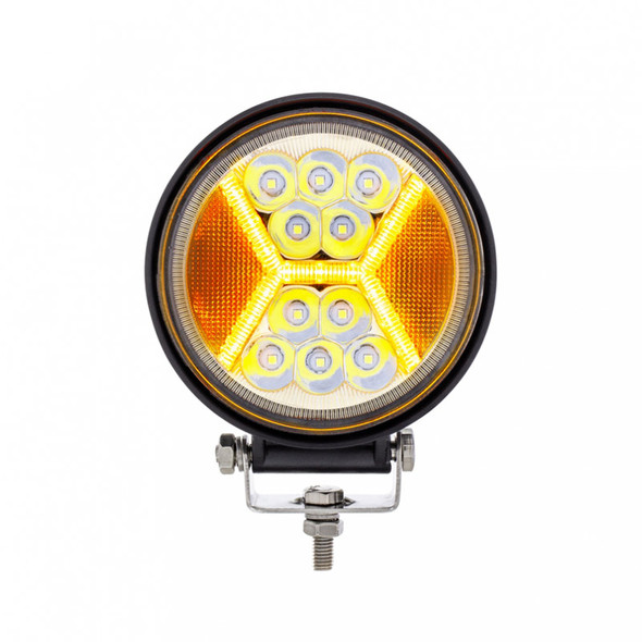 High Power LED Work Light With X Guide Amber Light