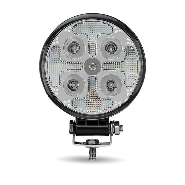 "4.5"" Round Strobe Series With Amber LED Spot & Strobe Work Lamp"