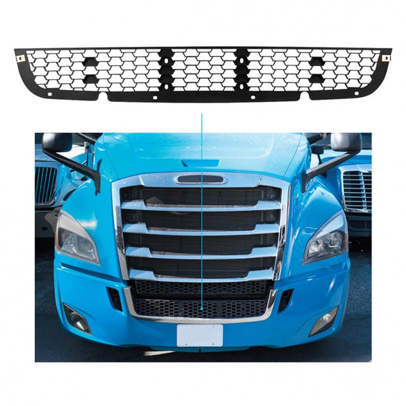 Freightliner Cascadia 2018+ One Piece Mesh Grill Insert - On Truck