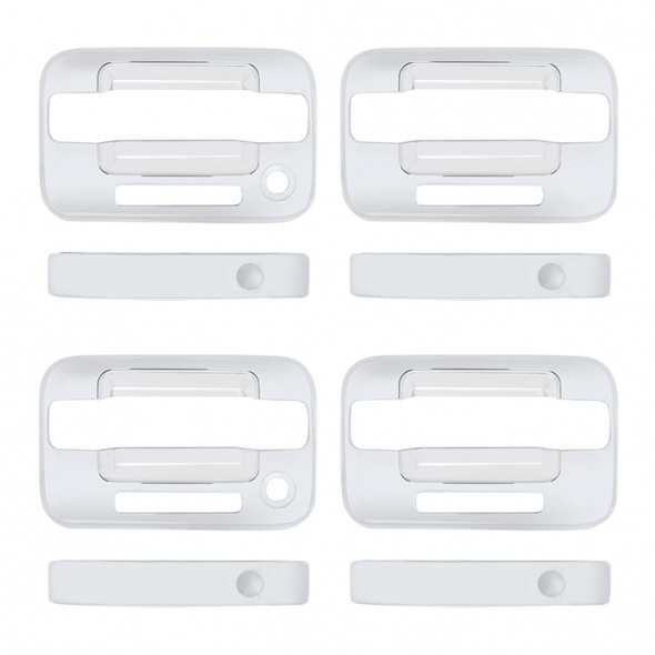 Ford F150 2004-2015 Chrome Door Handle Cover Set Keyless