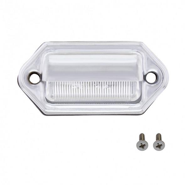 White LED License Light Off