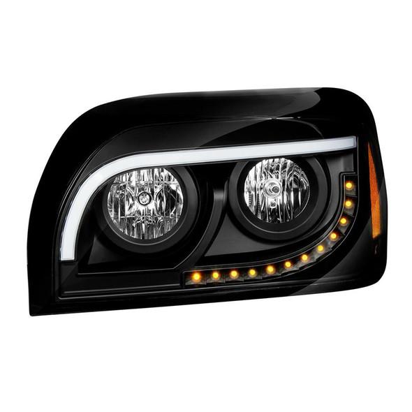Freightliner Century Halogen Black Headlight Driver Side