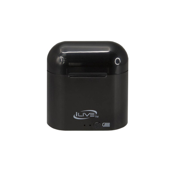 iLive Truly Bluetooth Wireless Earbuds - Black Closed Case