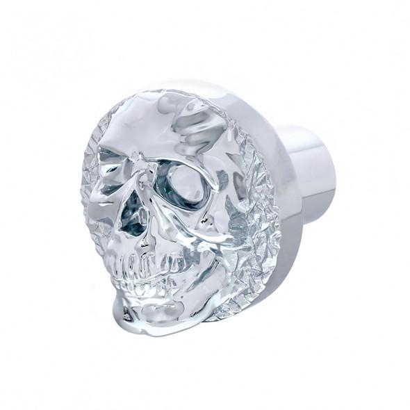 Chrome Skull Thread On Shift Knob - Side