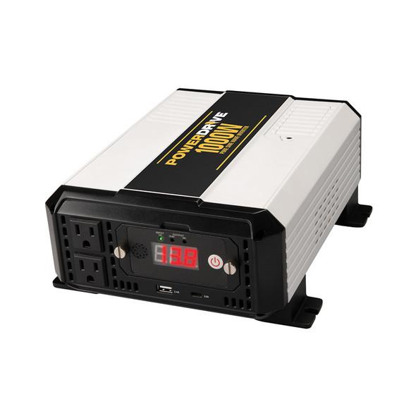 PowerDrive 1000 Watt Pure Sine Wave Power Inverter LEDs On