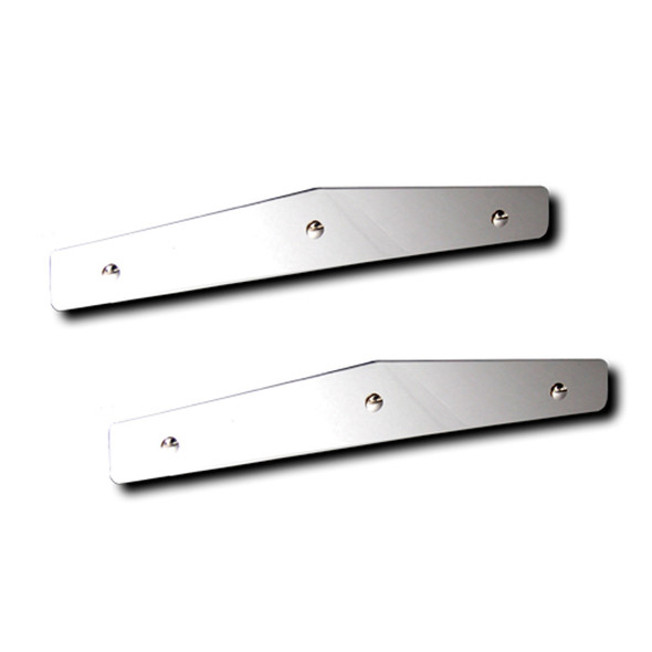 Stainless Steel Angle Cut Bottom Mud Flap Weight Pair